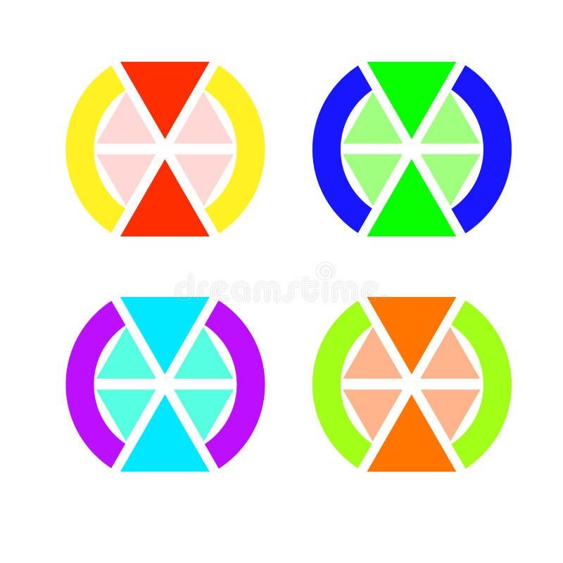 Emblemet av trianglar, två av som är mer än någon annat royaltyfri illustrationer