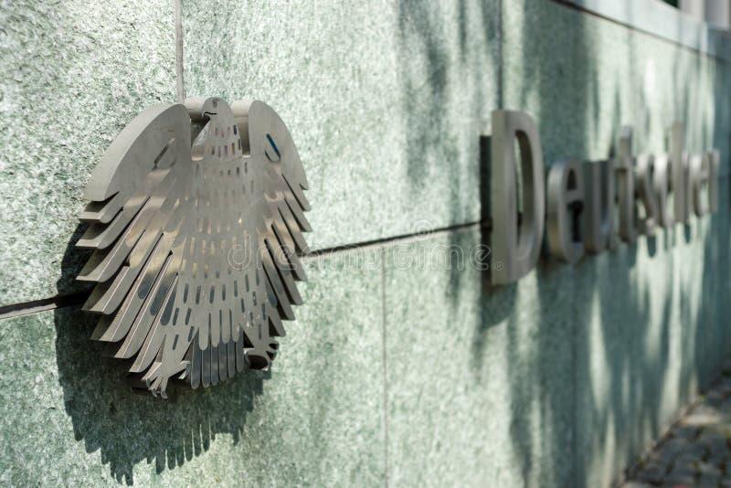 Emblemet av tyskt federalt bantar (Deutscher Bundestag) fotografering för bildbyråer