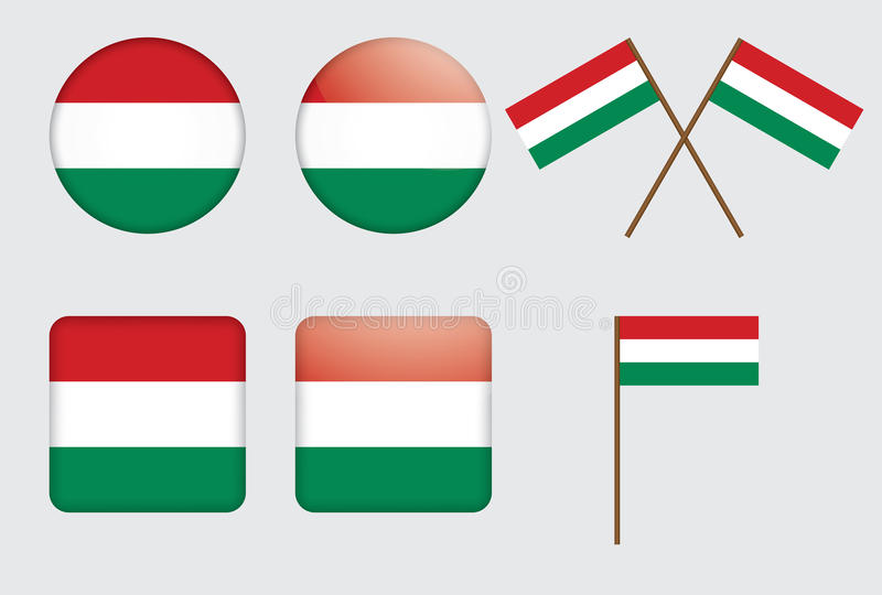 emblemflagga hungary stock illustrationer