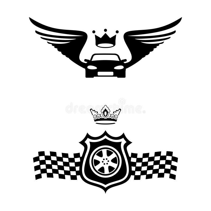 Emblemi automatici illustrazione vettoriale