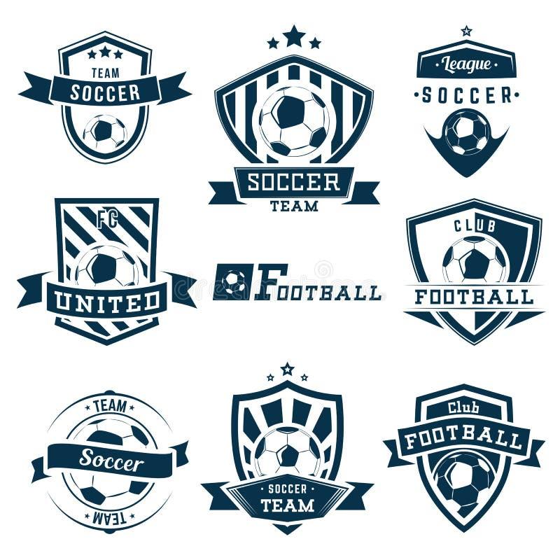 Emblemi di calcio illustrazione di stock