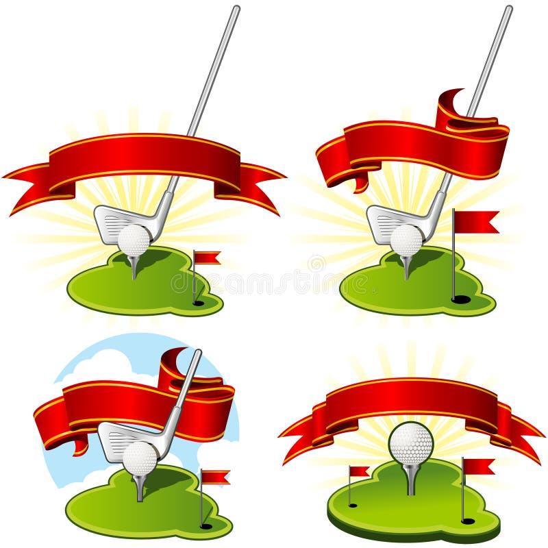 Emblemi di golf illustrazione vettoriale