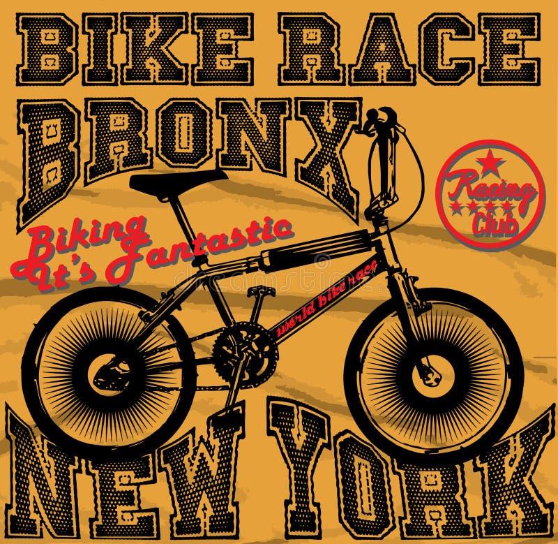 Emblemi di servizio di riparazione del garage dei motociclisti della corsa e torneo di club di motociclismo illustrazione vettoriale