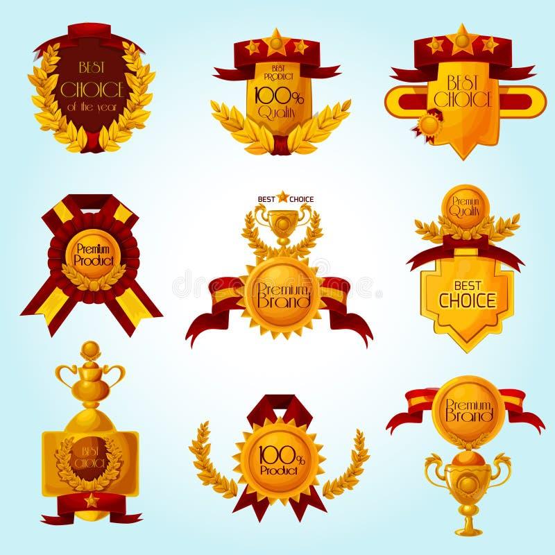 Emblemi di vendita del premio illustrazione di stock