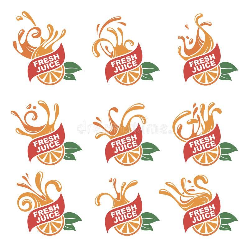 Emblemi freschi del succo royalty illustrazione gratis