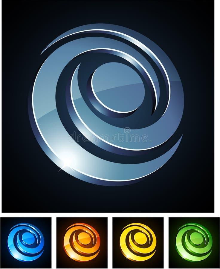 Emblemi vibranti di turbinio. illustrazione di stock
