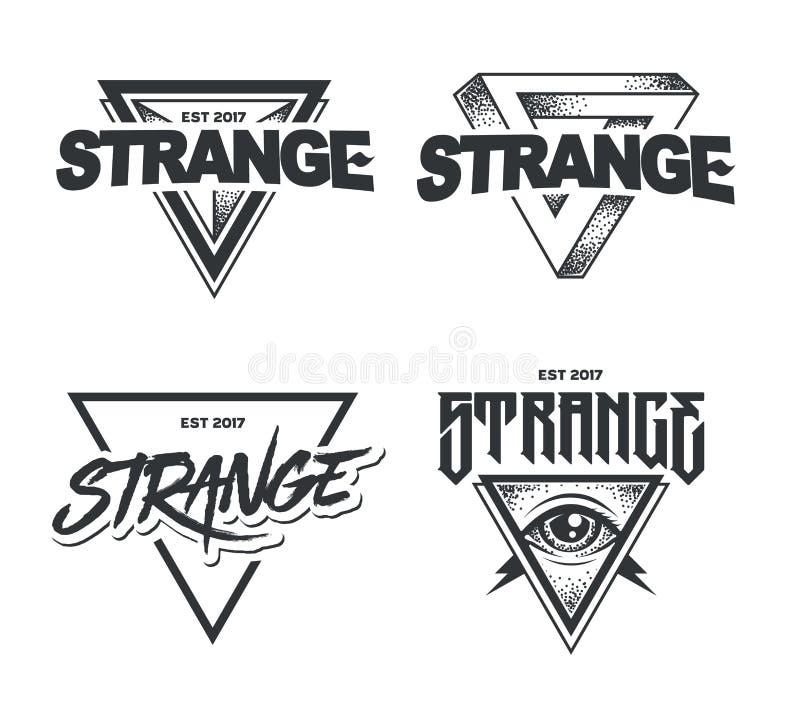 Hipster Emblems Vector Set stock illustration