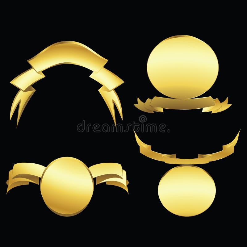 emblems guld royaltyfri illustrationer