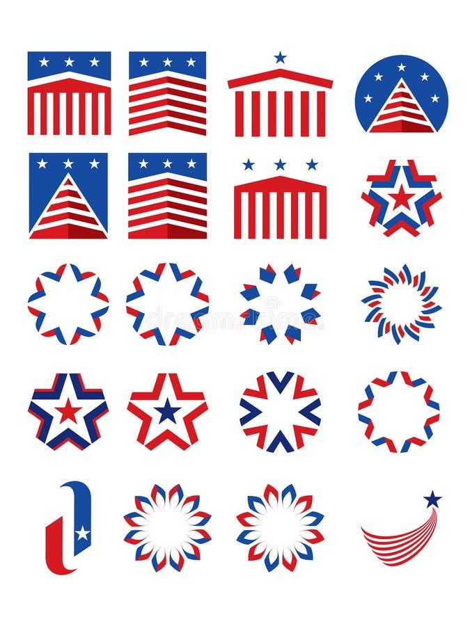emblems patriotiska logotyper royaltyfri fotografi