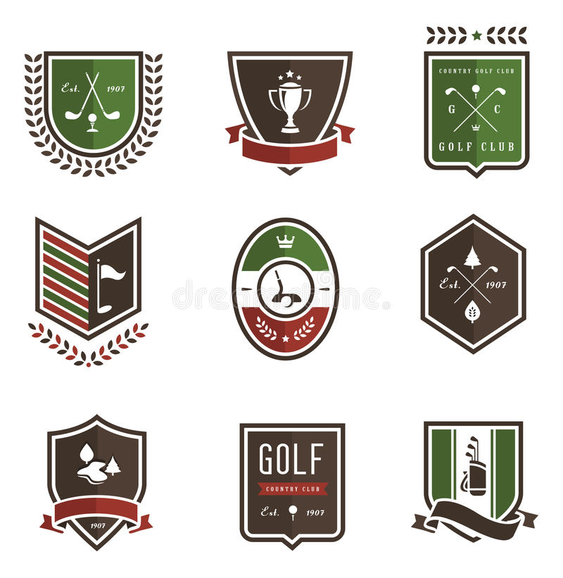 emblemsgolf stock illustrationer