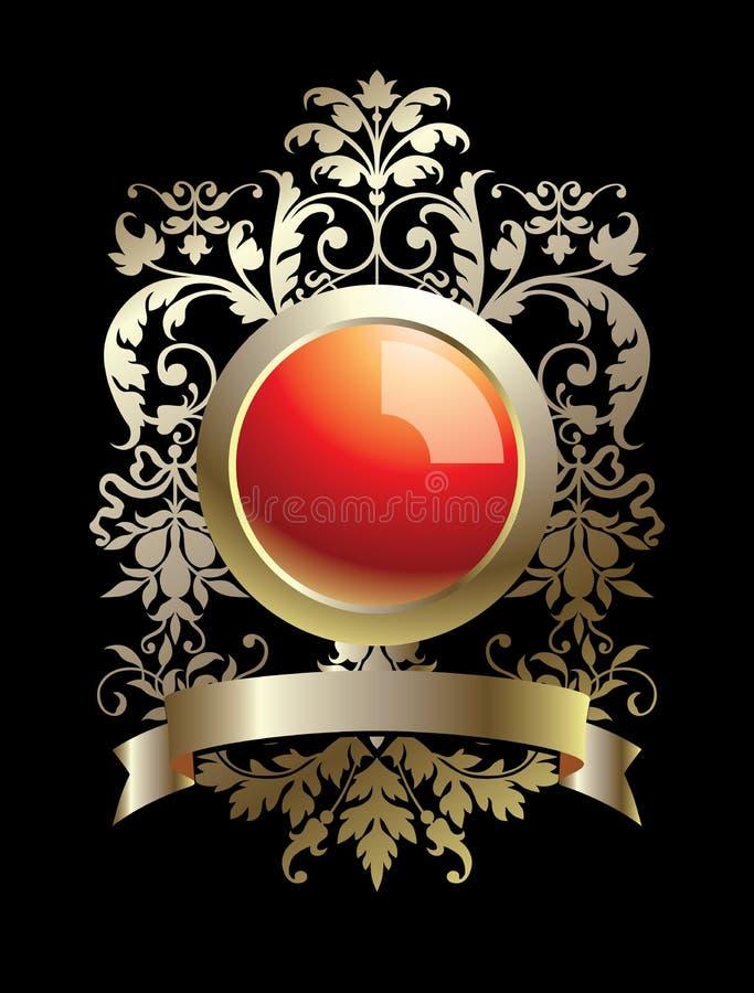 emblemsram royaltyfri illustrationer