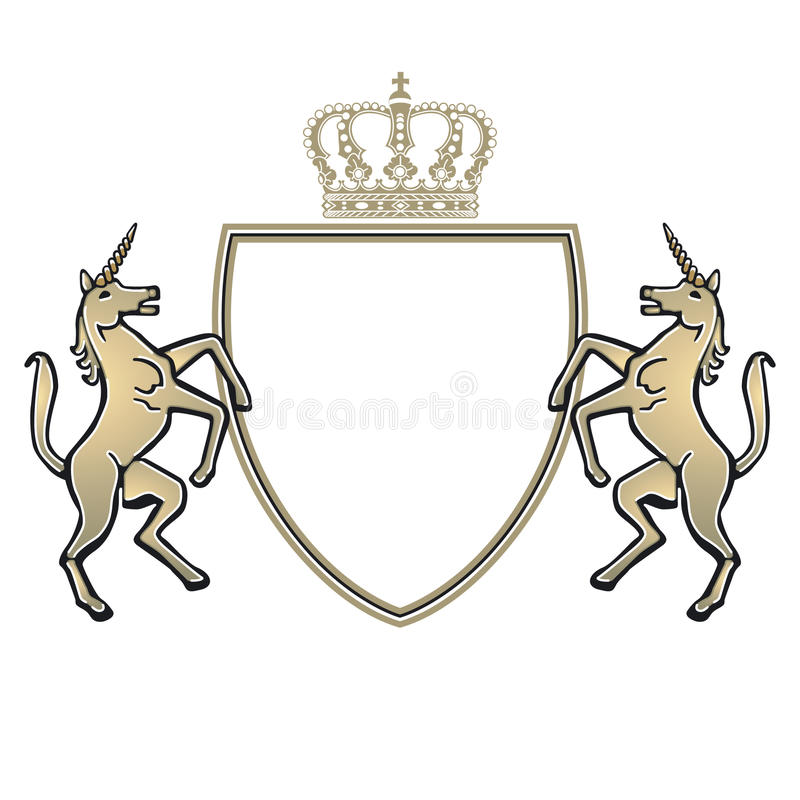 emblemunicorn stock illustrationer