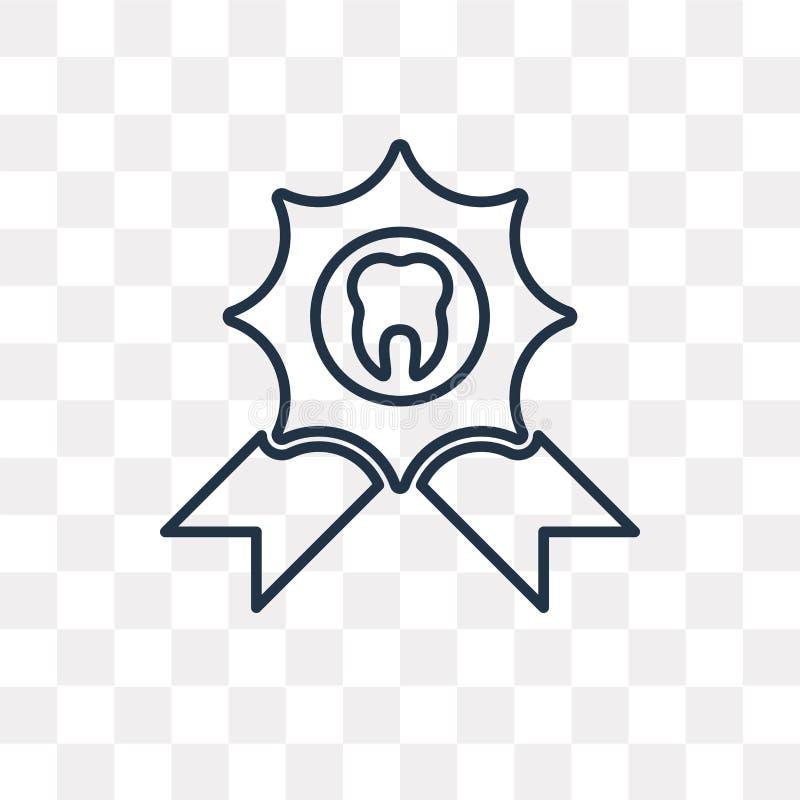 Emblemvektorsymbol som isoleras på genomskinlig bakgrund, linjärt dåligt royaltyfri illustrationer