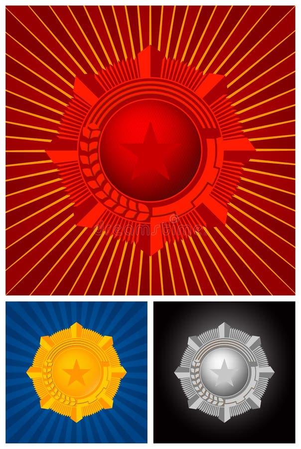 emblemvektorvinnare royaltyfri illustrationer
