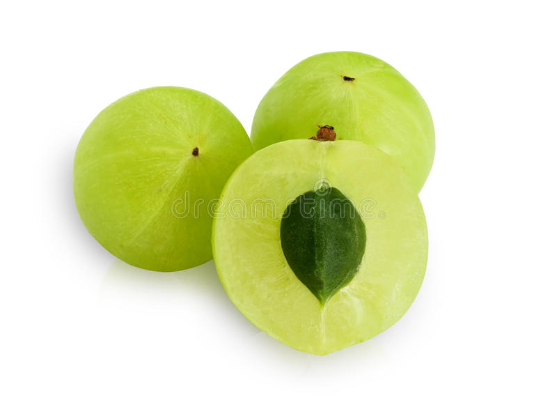Emblica, frutas verdes del amla fotos de archivo libres de regalías