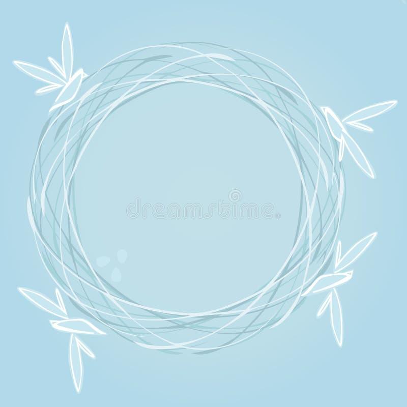 Emboîtement bleu illustration stock