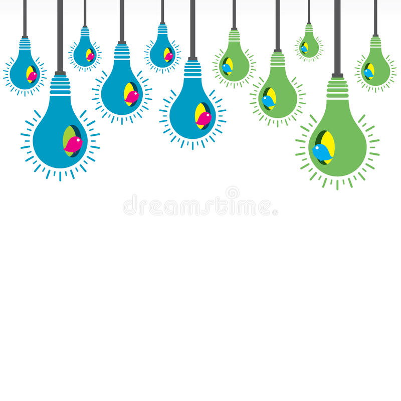 Emboîtement coloré d'ampoule d'oiseau illustration de vecteur
