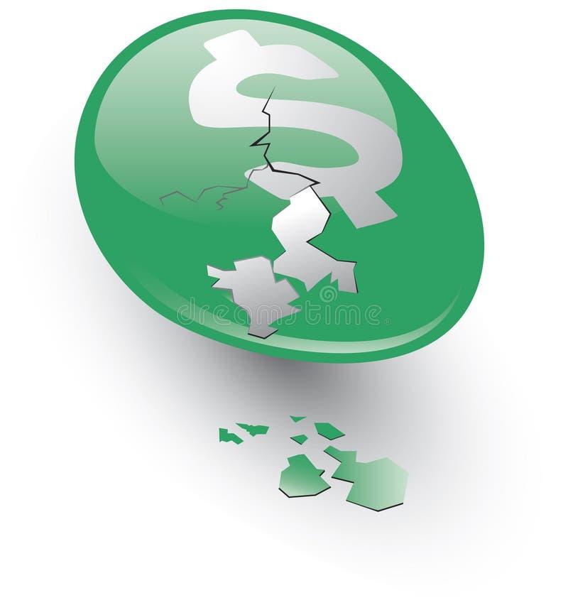 emboîtement criqué de vert d'oeufs illustration de vecteur