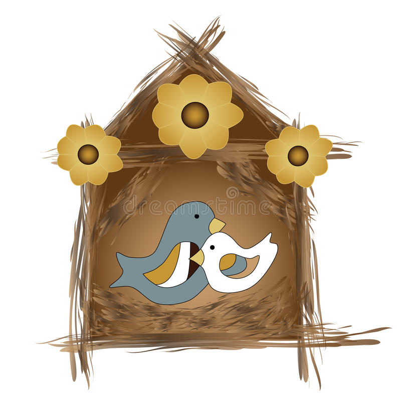 Emboîtement d'oiseaux illustration de vecteur