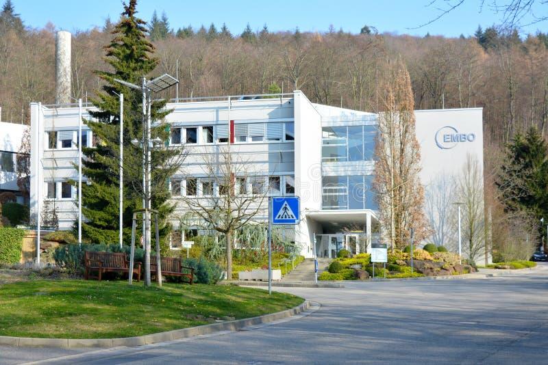 EMBO Heidelberg - den europeiska för organisationslaboratorium för molekylär biologi byggnaden royaltyfri fotografi