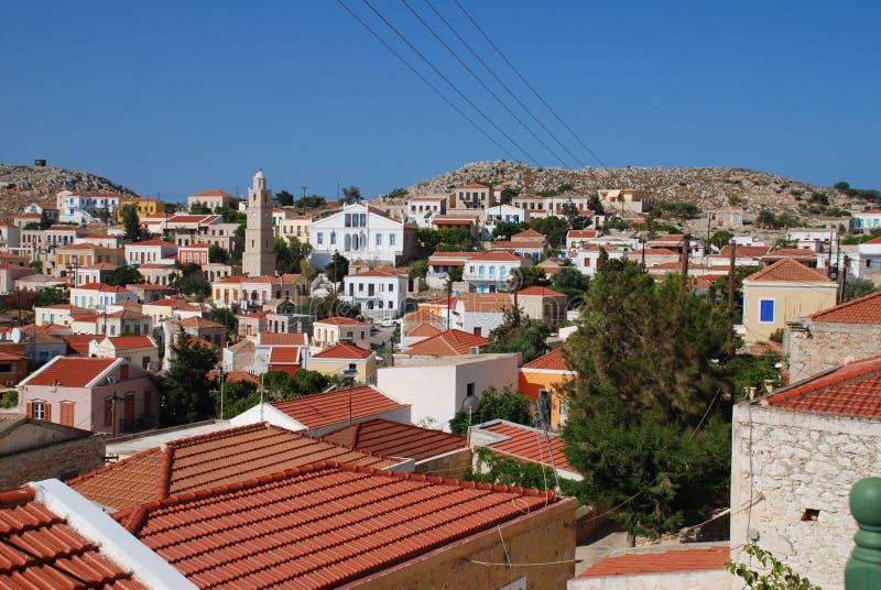 Emborio, isla de Halki foto de archivo libre de regalías