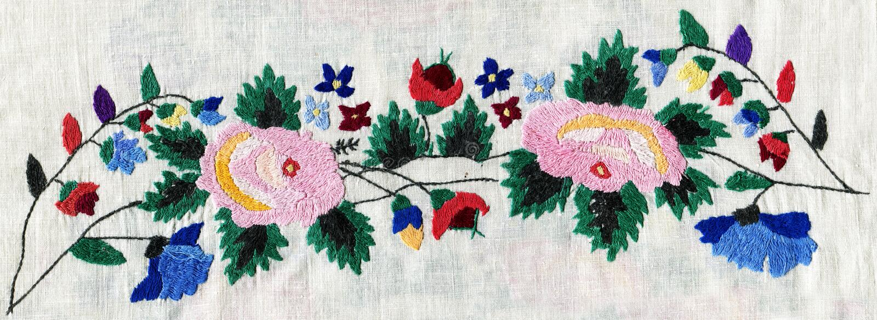 Emboroidery fotografie stock