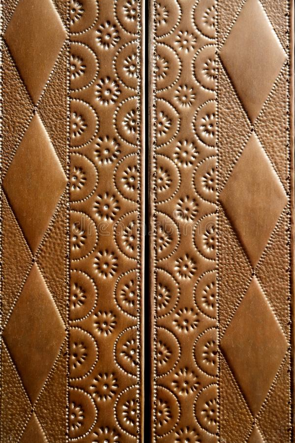 Free Embossed Brass Vintage Old Church Door Detail Stock Photos - 14813753