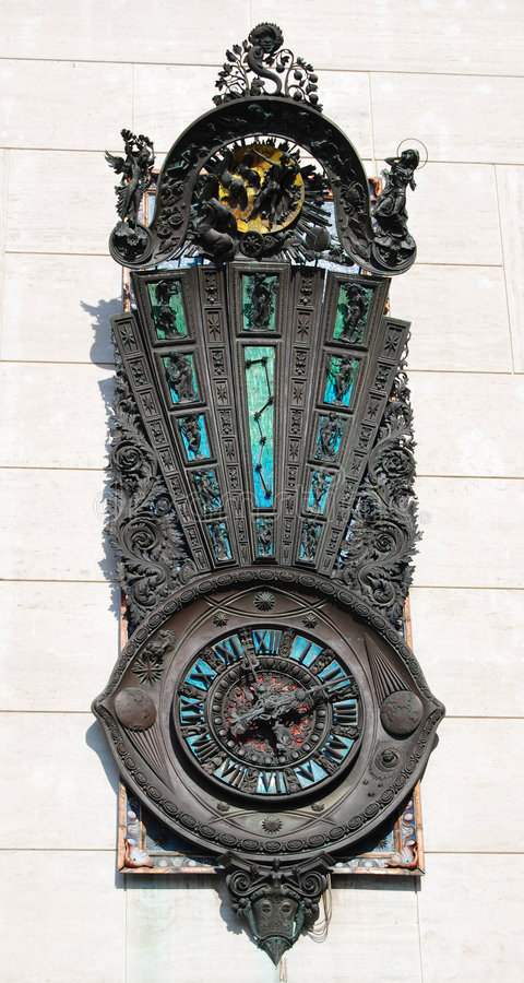 An embossed clock stock photography
