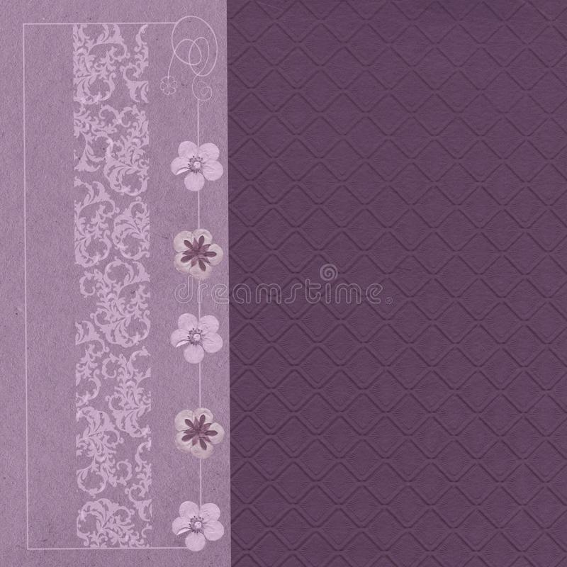 Embossed Lavender Wallpaper. And border stock photos