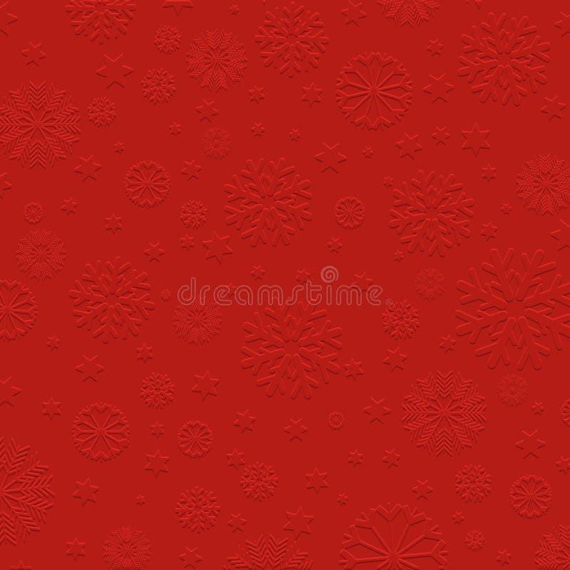 Embossed płatka śniegu tło ilustracja wektor