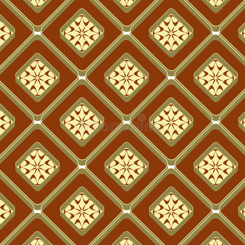 Embossed seamless background. Seamless geometrical pattern may be useful for print, fabric, tapestry, craftsmanship, scrap-booking etc. Vector illustration royalty free illustration