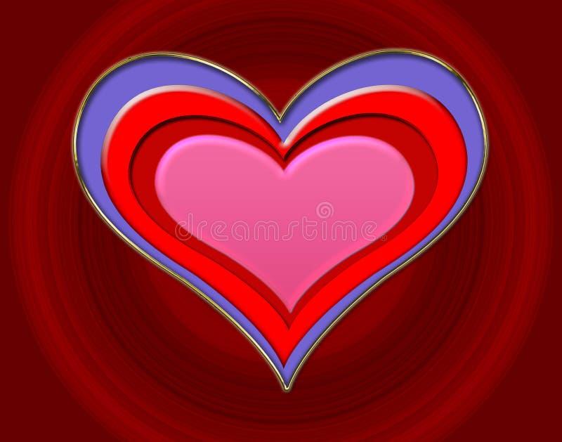 embossed serce obrazy royalty free