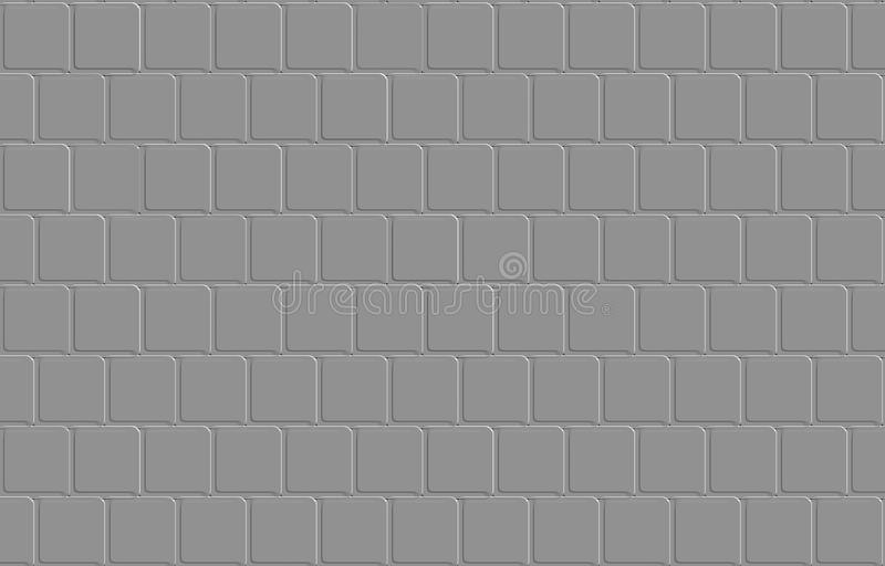 Embossed square pattern on grey background royalty free illustration