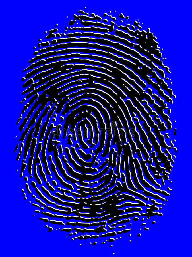 Embossed Vector Fingerprint stock photography
