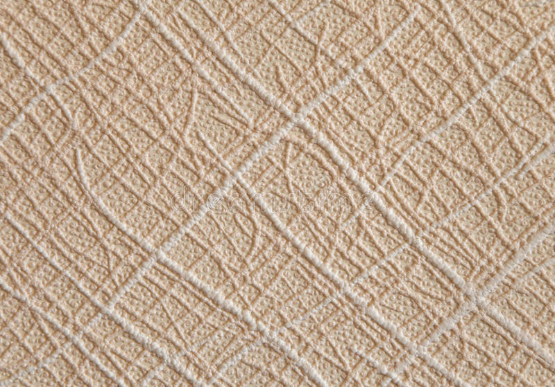 Embossed wallpaper. With abstract geometric design, background stock image