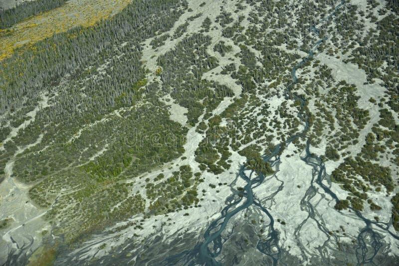 Embouchure aérienne de photo photo stock