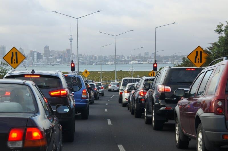 Embouteillage à Auckland, Nouvelle-Zélande images stock