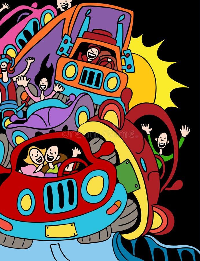 Embouteillage illustration de vecteur