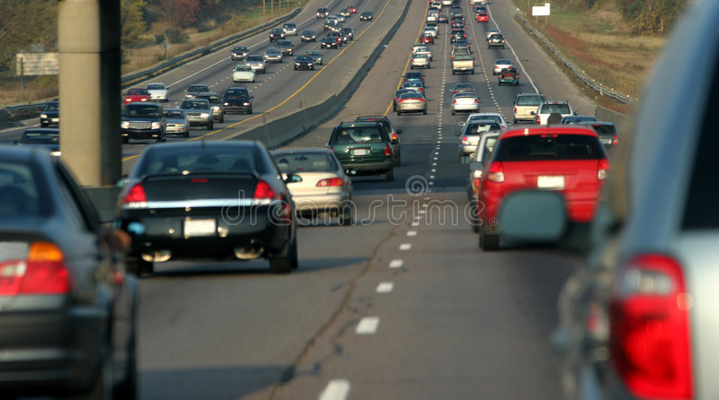 Embouteillage image stock