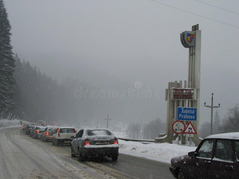Embouteillage Au District De Prahova Photo éditorial