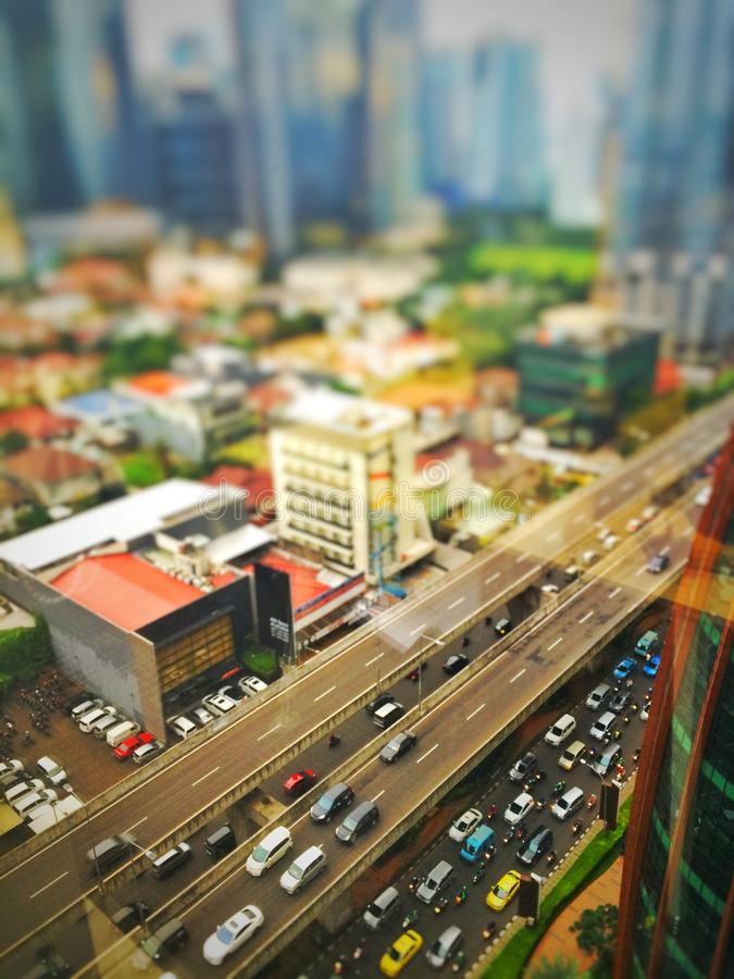 Embouteillage de Jakarta photographie stock