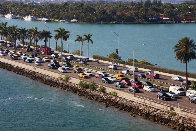 Embouteillage de Miami photo libre de droits