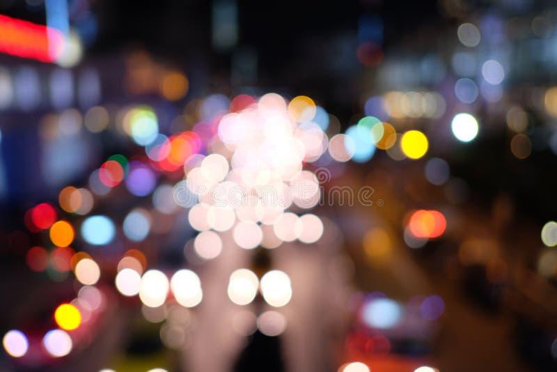 Embouteillage de nuit de Bangkok images stock