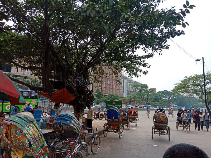 Embouteillage du Bangladesh image libre de droits