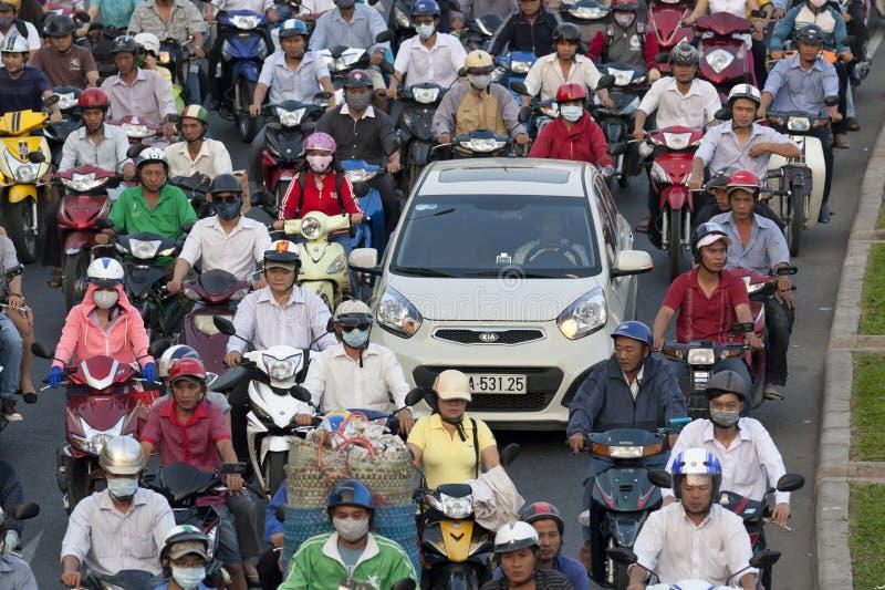 Embouteillages en ville de Ho Chi Minh photographie stock