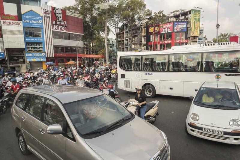 Embouteillages en ville de Ho Chi Minh photo stock