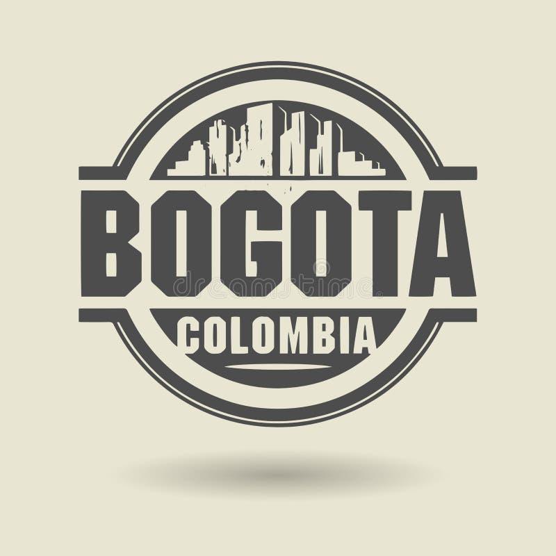 Emboutissez ou label avec le texte Bogota, Colombie à l'intérieur illustration libre de droits