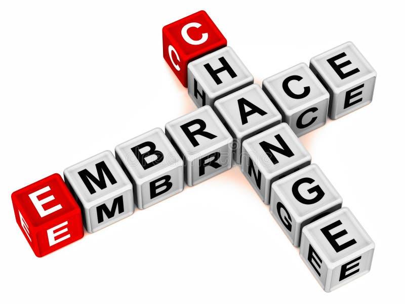 Embrace change vector illustration