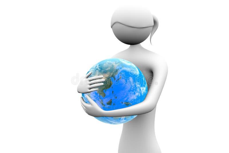 Embrace the globe stock illustration