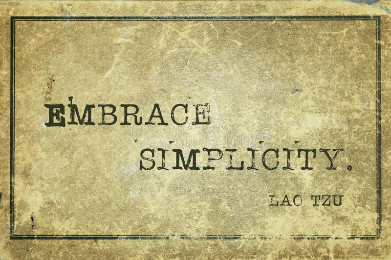 Embrace simple LT stock illustration